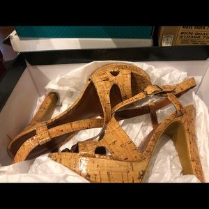 Natural Ralph Lauren cork Filara sandals